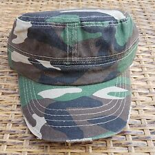NEW Military Style Camo Army Hat Solid Distressed 100% Cotton Ball Cap Uniisex