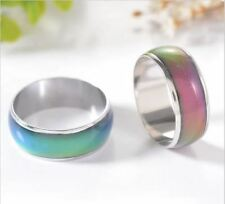 mood ring wedding rings  with the temperature change color magic Stainless Steel