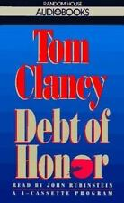 DEBT OF HONOR  by Tom Clancy - 1994, 4 Cassettes, Abridged
