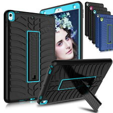 Hybrid Heavy Duty Soft Rubber Shockproof Case Cover Kickstand Stand For iPad