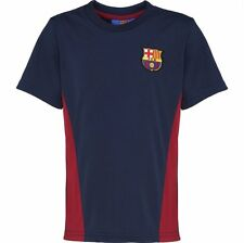 Barcelona FC Official Football Gift Boys Poly T Shirt Short Sleeve Top Training