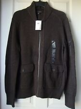 BRAND NEW BANANA REPUBLIC MEN'S SHAWL COLLAR ZIP FRONT CARDIGAN VARIETY SZS&CLRS