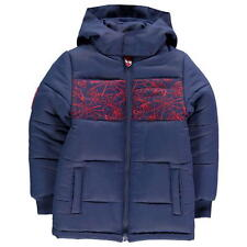 Boys Kids Official Marvel Spiderman Padded Winter Coat With Hood