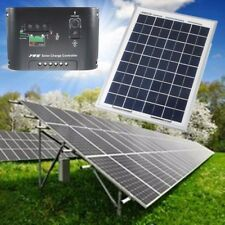 10W 12V Solar Panels Polycrystalline + Battery Charger + Controller Regulator