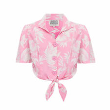 Seamstress Of Bloomsbury 1940's Vintage Pink Marilyn Large Button Blouse