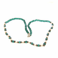 Green Crystal and Pearl Necklace Strand