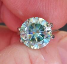 HYPNOTIC! 2.83 ct VVS1 9.00 mm FANCY BLUE PEACOCK LOOSE ROUND MOISSANITE