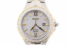 Ladies Seiko SUT240 Coutura Solar Two-Tone Stainless Steel MOP Dial Watch