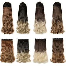 Real Natural 1pcs Clip in 3/4 Full Head Hair Extensions Extension as human hair