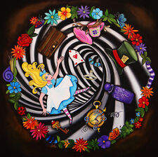 Alice Goes Down The Hole by Melody Smith Drink Me Wonderland Canvas Art Print