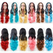 Fashion Cosplay Hair Wig Women Long Straight Curly Party Anime Costume Full Wig