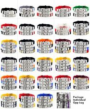 NBA Basketball Bracelet Silicone and Stainless Steel adjustable Wristband 1pcs