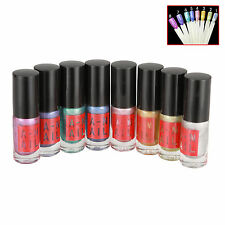 8 Color Holographic Nail Polish Laser Effect Magic Dazzling Glitter Nail Art 6ml