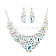 MagiDeal Women Jewelry Sets Elegant Crystal Statement Necklace Earring Sets