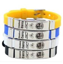 Stephen Curry Basketball Bracelet Silicone Stainless Steel adjustable Wristband