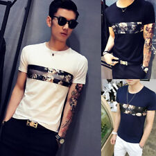 1Pcs Men's Fashion Round neck Short Sleeve T-Shirt Popular