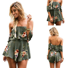 Jumpsuit Summer Womens Romper Ladies Holiday Playsuit Beach Dress Printed shorts