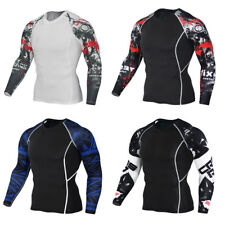 Sports Tight Shirts Men Sports Shirts Fitness 1Pcs Long sleeves Compression