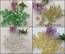 Vintage Czech Round Glass Faceted Beads C'1960's Size and Colour Choices