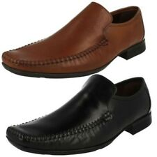Mens Clarks Leather Slip On Shoes - Ferro Step