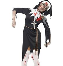 Halloween Ladies Zombie Sister Mary Nun Fancy Dress Costume New by Smiffys