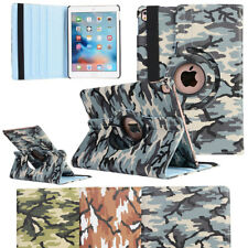 360 Rotating Camo Smart Leather Stand Folio Case Cover For Apple iPad Tablet