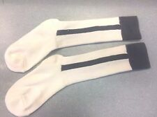 Pearsox Athletic All In One Knee High Stirrup Socks - White/Silver