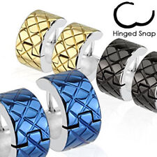 """1 Pair Hoop Earrings 3 Colors """"Groove Style NEW JEWELRY from COOLBODY"""