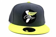 Chicago White Sox Graphite Neon Yellow White MLB New Era 59Fifty Fitted Hat Cap