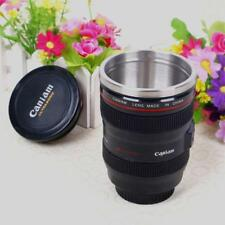 Stainless 24-105mm Lens Thermos Camera Travel Coffee Tea Mug Cup Gift AU STOCK