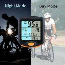 Wireless/Wired Bike Cycling Cycle Computer Odometer Speedometer Backlight Good