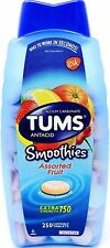 TUMS Antacid Fruit Smoothies Extra Strength 750mg Calcium Carbonate, 250 Tablets