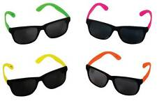 Neon Sunglasses Shades Coloured Arms 80s 90s Fancy Dress