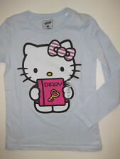 NEW Girl's Kid's HELLO KITTY T-SHIRT TEE Diary Blue Old Navy L