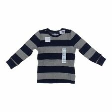 NWT OLD NAVY BOYS long sleeved thermal shirt top stripe navy blue   u pick size