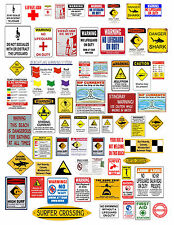1: 24 1:18 BEACH WARNING SIGNS DECALS FOR DIECAST DISPLAYS  & DIORAMAS