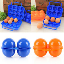 Portable Carry 2/6/12 Eggs Containers Holder Storage Box Folding Plastic New