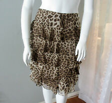 NEW Talbots TIERED LEOPARD SKIRT Animal Print Ruffle Skirt LINED $134 size 20W