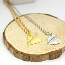 One Direction 1D Harry Styles Paper Airplane Silver Gold Charms Necklace