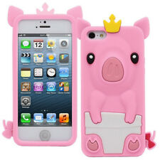 1Pcs Phone Case Cute Crown Pig iPhone 5/5S/SE Silicone Shell 4.0 inch Phone Bag