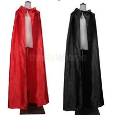 MagiDeal Satin Cloak Hood Gothic Devil Cape Medieval Witchcraft Robe Costume
