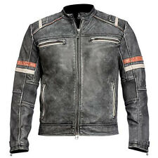 Retro X Men Bomber Rider Slim Fit Casual Stylish Black Faded Real Leather Jacket