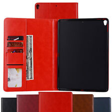 Folio PU Leather Wallet Flip Shockproof Cover Case With Stand For Apple iPad