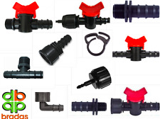 13mm Irrigation Valves Tap Off Take Adaptor Ball Garden Fitting Connector