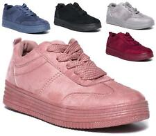 NEW LADIES FLAT LOW LACE UP TRAINERS PUMPS SHOES WOMENS SNEAKERS SIZE