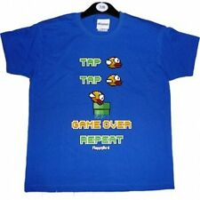 NEW Flappy Birds Game Gamer Authentic Short Sleeved T shirt 7-8y 9-10y 12-13y