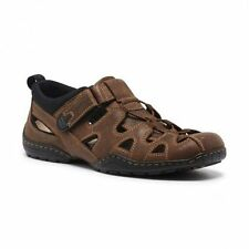 NEW MENS HUSH PUPPIES SENTRY BROWN EXTRA WIDE SANDALS LEATHER CASUAL SAND SHOES