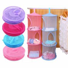 3 Tier Hanging Storage Bag Mesh Net Kids Toy Bedroom Bathroom  Compartment
