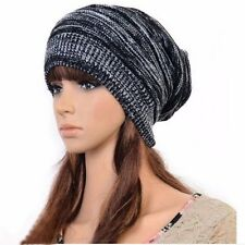 Ladies Knitted Woolly Winter Hat  Mens Oversized Slouch Beanie Cap Unisex