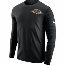 Limited Edition Nike 2017 NFL Baltimore Ravens Enzyme Pattern Long Sleeve Shirt